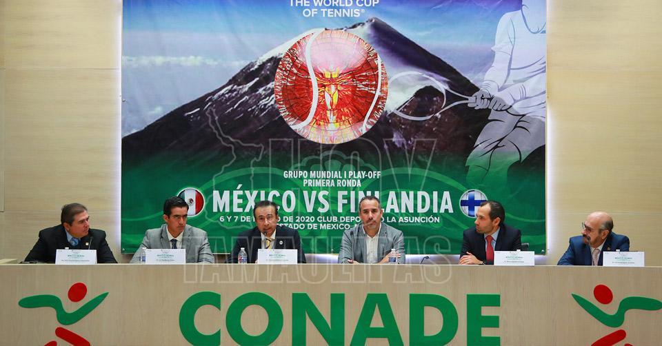 Presentan Copa Davis México ante Finlandia