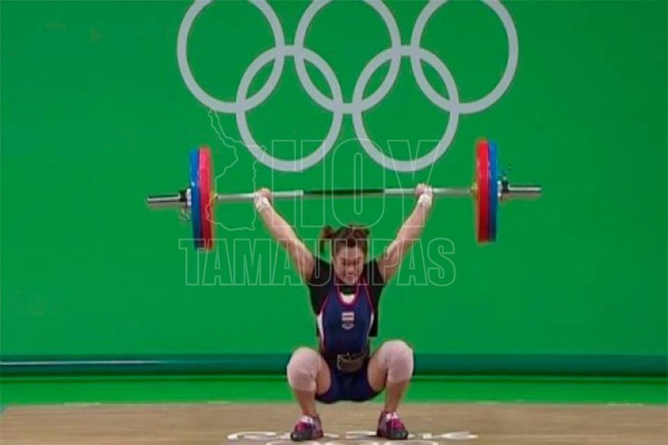 Alexandra Escobar, 4° lugar en levantamiento de pesas