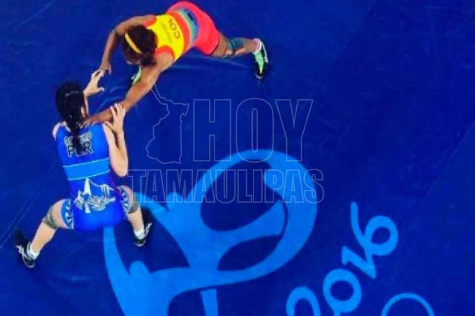 Luchadora colombiana Rentería queda en cuartos de final en Río