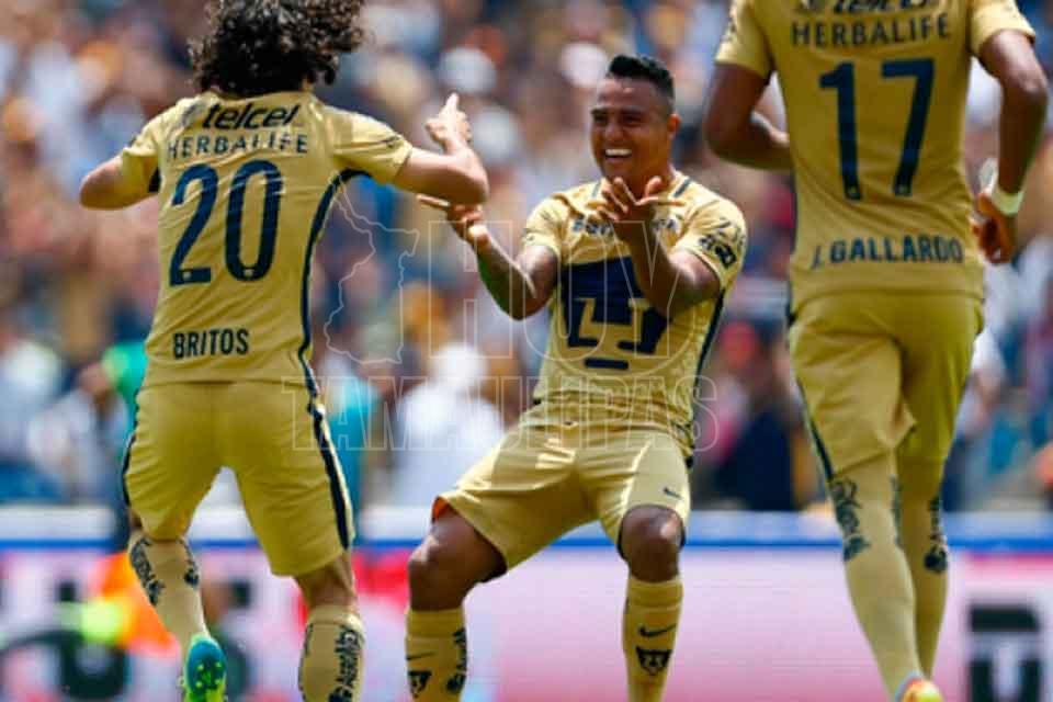 Pumas golea 4-1 en su visita a Veracruz