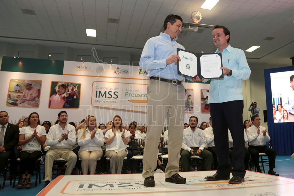 Dos clínicas y 3 guarderías de IMSS para Tamaulipas