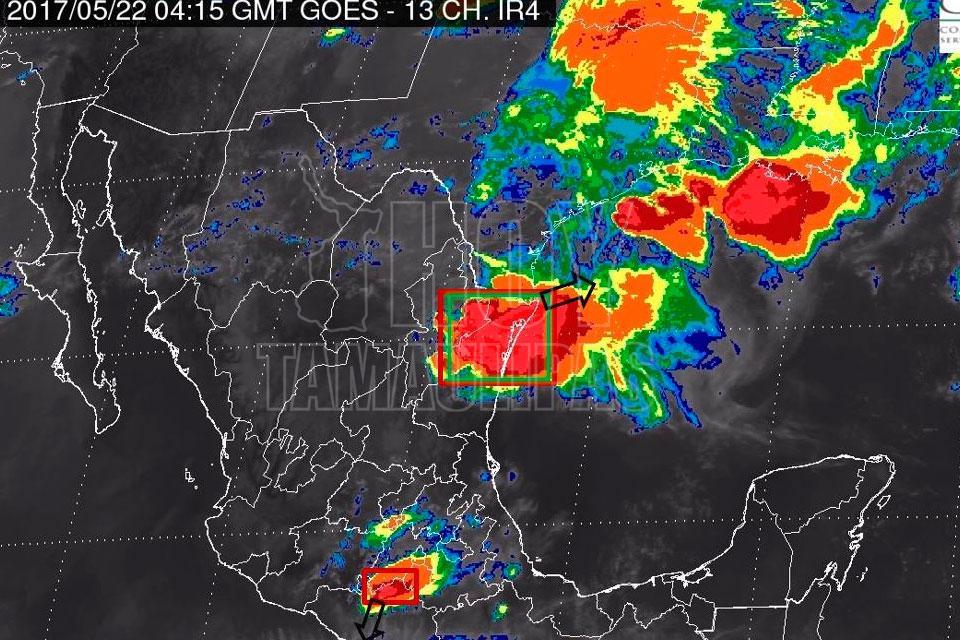 En Alerta: Pronostican fuertes tormentas para el norte de Tamaulipas