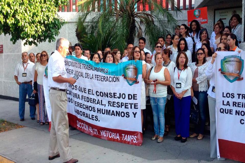 Empleados del Poder Judicial protestan en Acapulco y Morelos