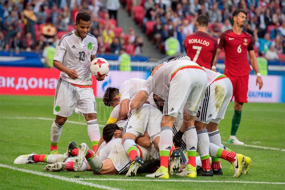 México rescata empate ante Portugal en Copa Confederaciones
