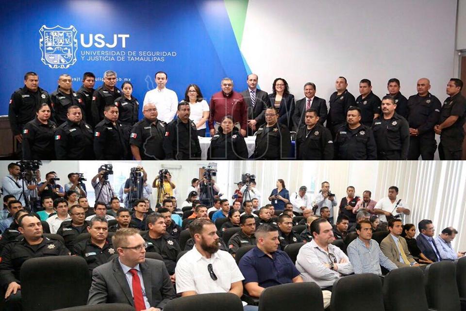 Capacitan instructores de EU a policías de Tamaulipas