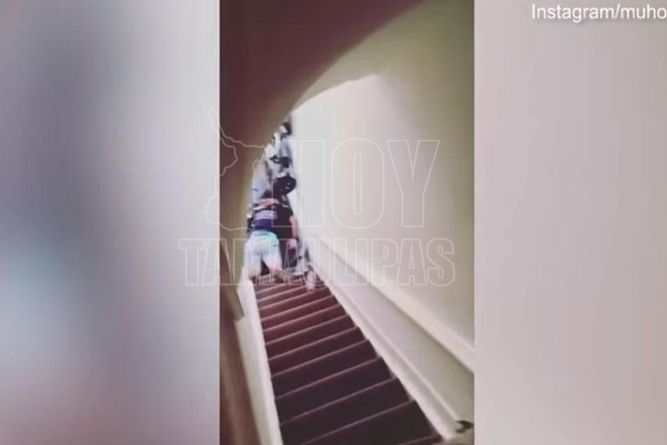 Casero tira por escaleras a inquilina