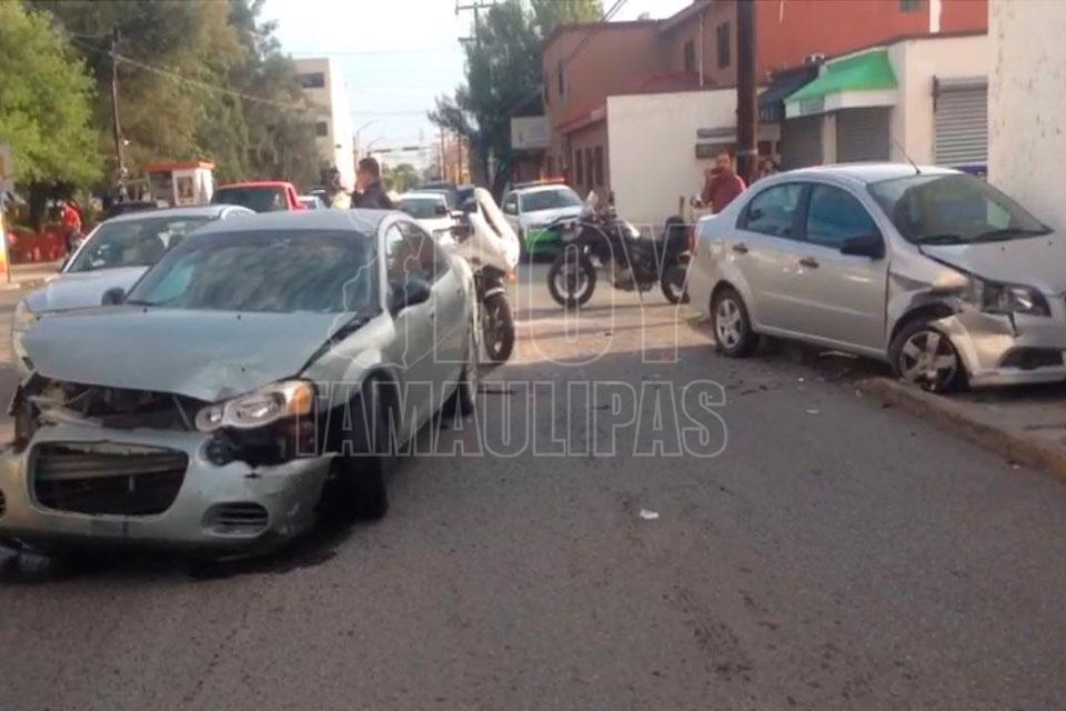 Choque entre patrulla y autobús deja 5 lesionados en Tamaulipas