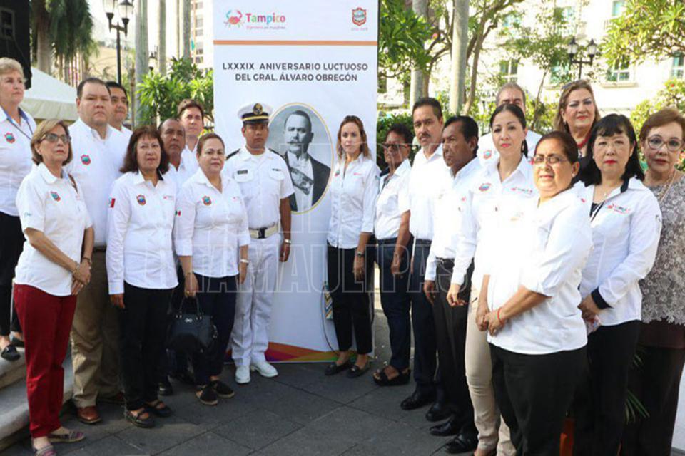 Conmemoran aniversario luctuoso de Álvaro Obregón en el Parque de la Bombilla