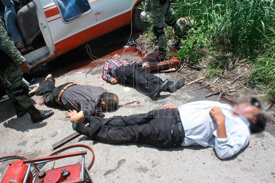 Fatal accidente deja cuatro muertos y varios heridos en Tamaulipas