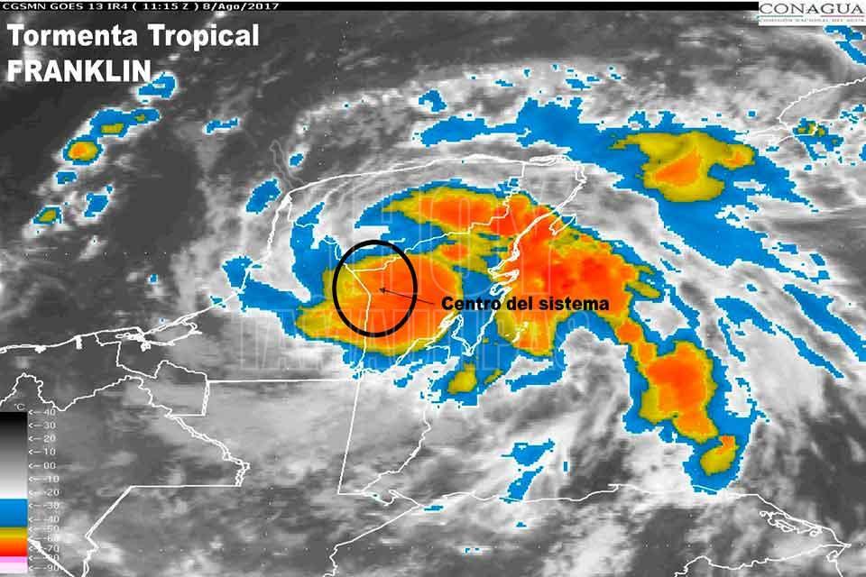 'Franklin' pegará en Veracruz como huracán: CNH