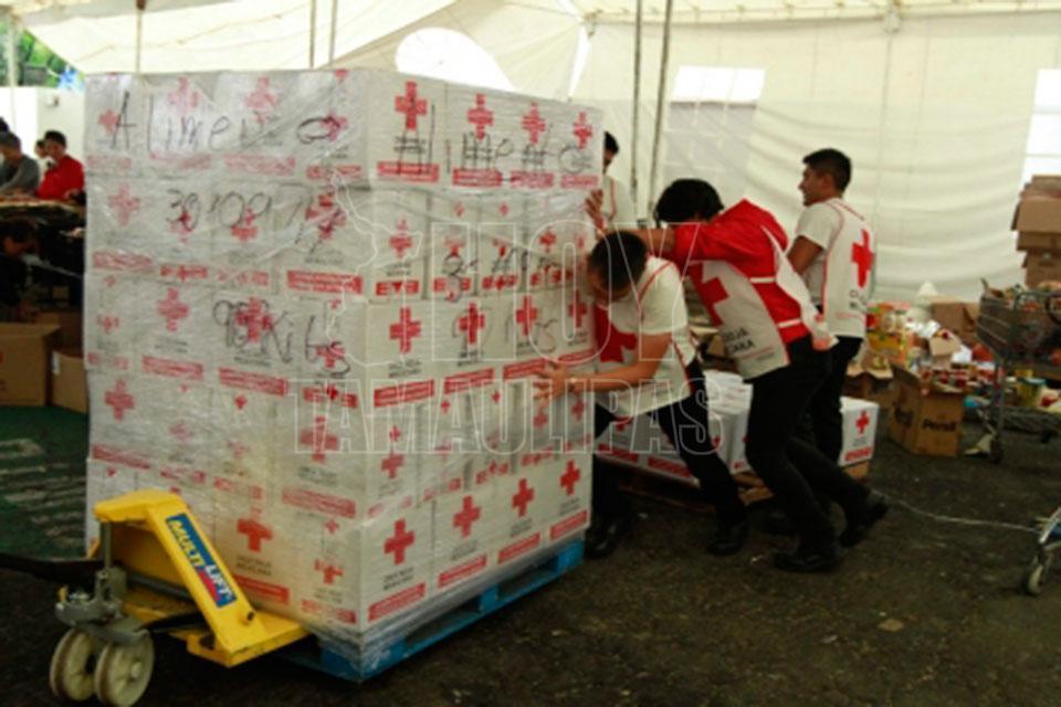 Agradece Peña a la Cruz Roja. Benefician a damnificados
