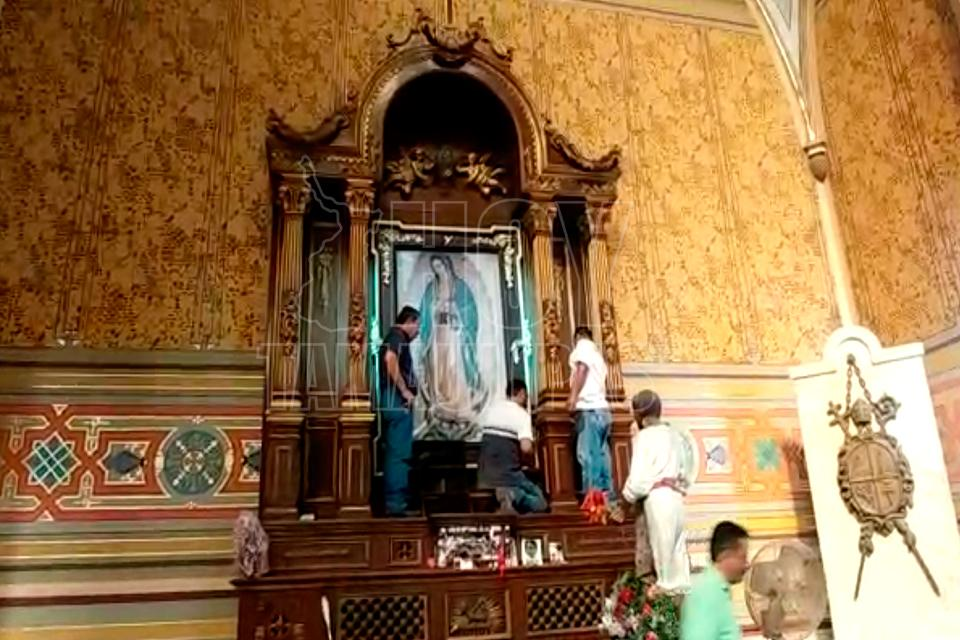 #LadyVirgen: Mujer destroza imagen de la Virgen en Tamaulipas