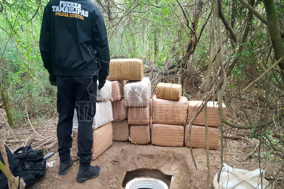 Asegura Policía Estatal 286 kilos de mariguana en Reynosa