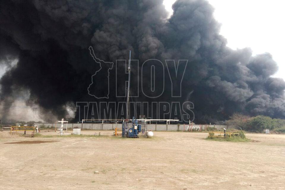 Incendio consume planta de residuos tóxicos en Tamaulipas