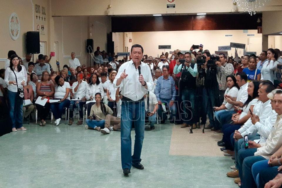 Viene Osorio Chong a apoyar a candidatos priistas