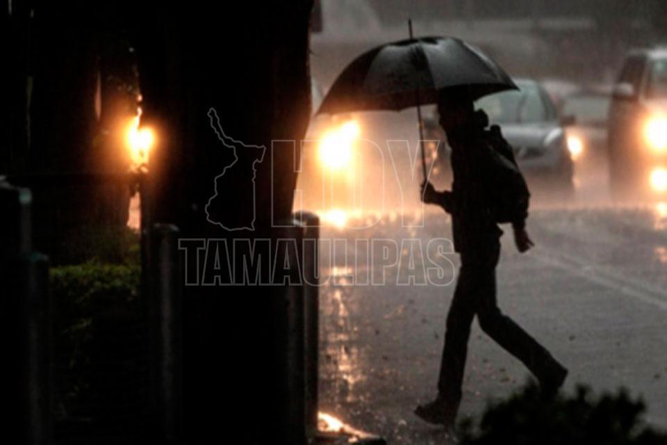 Prevén en Tamaulipas lluvias de moderadas a fuertes en las próximas horas