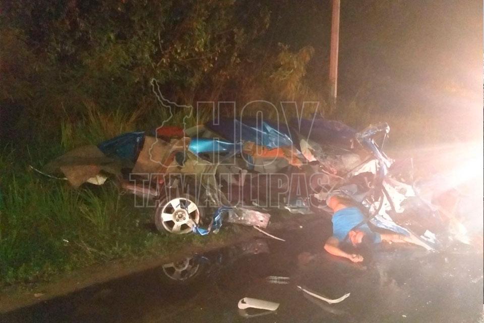 Muere joven y dos quedan graves tras choque en Madero
