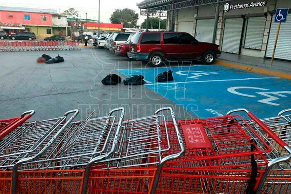 Dejan bolsas con restos humanos en centro comercial de Río Bravo